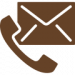 An icon of an envelope and a telephone receiver