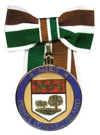 A picture of the Medal of Merit.