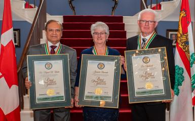 An image of the 2019 recipients of the medal of merit